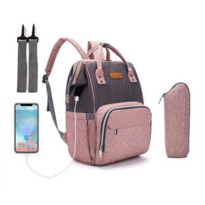 Sac à couche avec port USB et sac isotherme - Couche Sac à langer