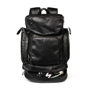 Sac à dos similicuir multi-poches - Sac à dos Sac à dos pour ordinateur portable