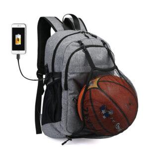 Sac à dos de sport avec port USB - Sac de gym Sacs à dos de basket-ball