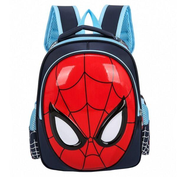 Sac À Dos Masque De Spiderman 3D - Bleu Foncé - Sac À Dos Scolaire Sac À Dos