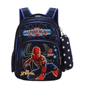 Sac à dos Spiderman avec trousse - Sac à dos scolaire Sac à dos