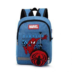 Sac à dos Spiderman effet jean - Sac à dos scolaire Sac à dos