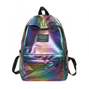 Sac à dos cartable holographique - Multicolore - Sac à dos scolaire Sac à dos