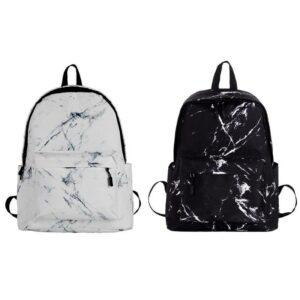 Sac à dos cartable effet marbre - Sac à dos scolaire Sac à dos