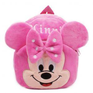 Sac à dos peluche Minnie rose - Sac à dos scolaire Sac à dos pour enfants