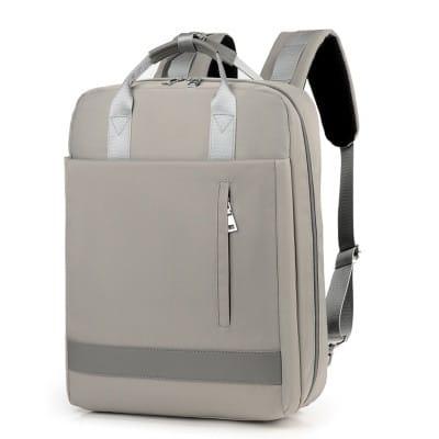Sac À Dos En Nylon Grande Capacité - Gris - Sac À Dos Pour Ordinateur Portable Sac D'Ordinateur Portable