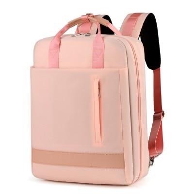 Sac À Dos En Nylon Grande Capacité - Rose - Sac À Dos Pour Ordinateur Portable Sac D'Ordinateur Portable