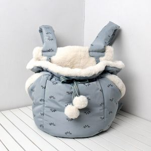 Sac à dos de transport semi-fermé pour chiot et chat - Bleu, M - Chat Chien