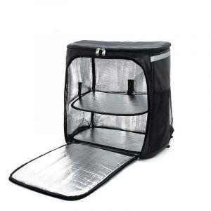 Grand sac à dos isotherme noir pour livraison de nourriture - Sac Sac à dos