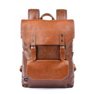 Cartable vintage en cuir synthétique - Cuir Sac à dos