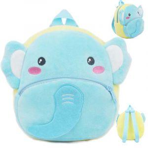 Sac à dos peluche animal pour bébé - Bleu ciel - Sac à dos scolaire Animal en peluche