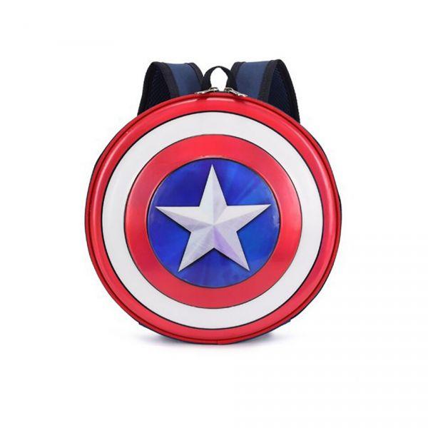 Mini Sac À Dos Captain America Pour Enfant - Bleu - Capitaine Amérique Le Bouclier De Captain America