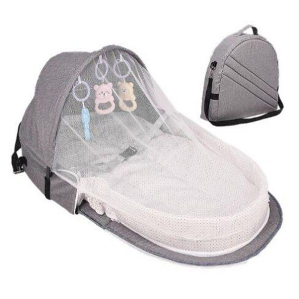 Sac Berceau Portable Pour Bébé - Gris - Lit Bébé Lit De Camp