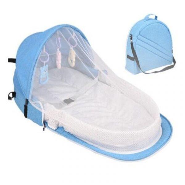 Sac Berceau Portable Pour Bébé - Bleu - Les Moustiques Moustiquaire