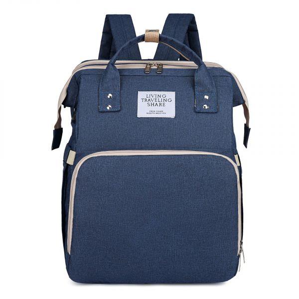 Sac Berceau Pliable Portable Pour Maman - Bleu Marine - Couche Bagages