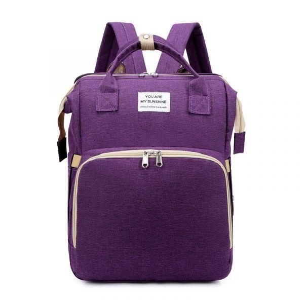 Sac Berceau Pliable Portable Pour Maman - Violet - Sac Sac À Dos