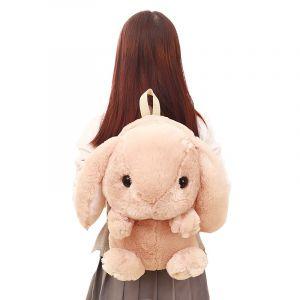 Sac à dos en peluche lapin pour fille - Animal en peluche Lapin