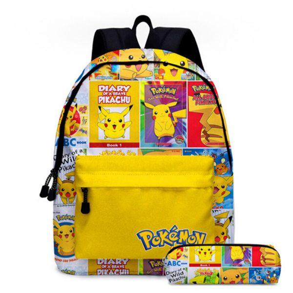 Sac À Dos Pokémon Go Pour Enfants - Jaune - Sac À Dos Scolaire Sac À Dos Pour Garçons