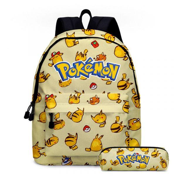 Sac À Dos Pokémon Go Pour Enfants - Beige - Sac À Dos Sac À Dos Scolaire