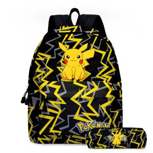 Sac à dos Pokémon Go pour enfants - Noir - Sac à dos scolaire Sac à dos pour garçons