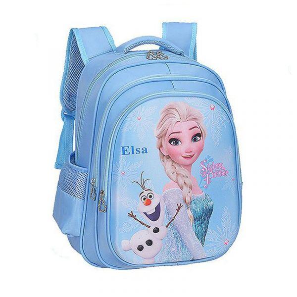 Sac D'École Disney Elsa Pour Filles - T-Shirt Gelé