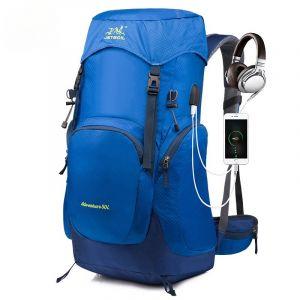 Sac à dos de randonnée couleur unie - Bleu - Sac à dos Sac à dos de randonnée