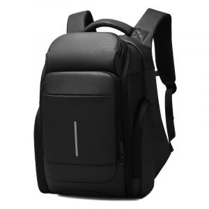 Grand sac à dos de voyage noir en PVC - Sac à dos Sac à dos pour ordinateur portable
