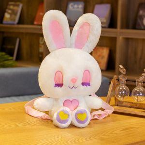 Sac à dos lapin en peluche pour enfant - Blanc - Peluche Ange Lapin