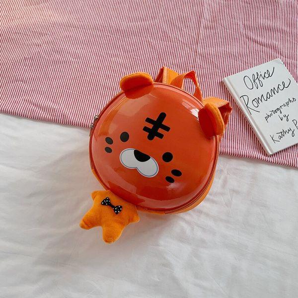 Mini Sac À Dos Dessin Animé 3D Pour Enfant - Orange - Sac À Dos Scolaire Sac À Dos