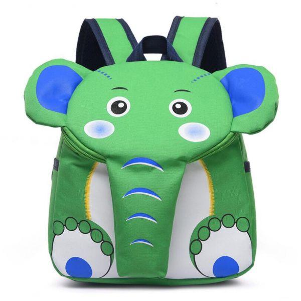 Sac À Dos En Forme D'Éléphant Pour Enfant - Vert - Sac À Dos Sac