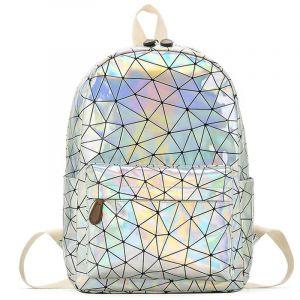 Sac à dos holographique géométrique - Sac à dos scolaire Sac à main