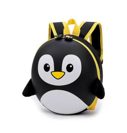 Petit Sac À Dos Pingouin 3D À Coque Rigide - Noir - Sac À Dos Scolaire Sac À Dos