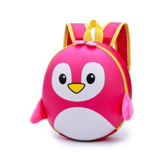 Petit Sac À Dos Pingouin 3D À Coque Rigide - Rose - Sac À Dos Scolaire Sac À Dos Pour Enfants