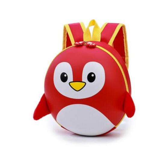 Petit Sac À Dos Pingouin 3D À Coque Rigide - Rouge - Sac À Dos Scolaire Sac À Dos Pour Enfants