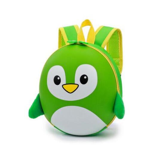 Petit Sac À Dos Pingouin 3D À Coque Rigide - Vert - Sac À Dos Scolaire Sac À Dos