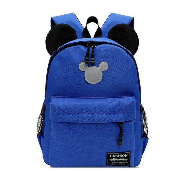 Sac À Dos Mickey Couleur Unie - Bleu - Sac À Dos Sac À Dos Fille