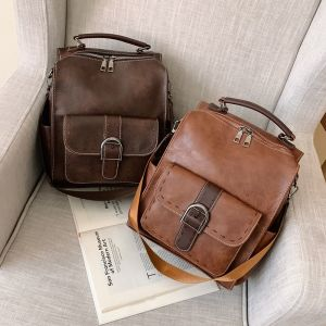 Petit sac à dos vintage en simili cuir - Sac à main Cuir