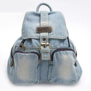 Sac à dos imitation jean - Bleu ciel - Jean Sac à dos