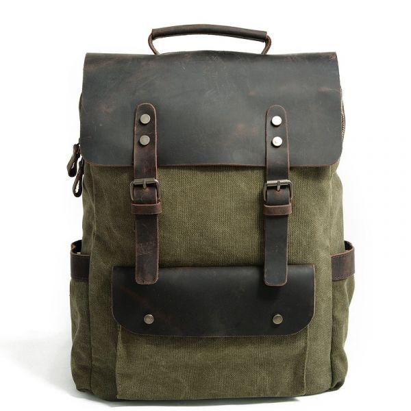 Sac À Dos Cartable Rétro - Vert - Sac À Dos Sacs À Dos Vintage