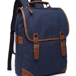 Sac à dos vintage en toile pour homme - Bleu - sac de messager Sac