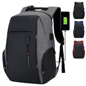 Sac à dos décontracté avec chargeur USB - Sac à dos antivol Sac à dos pour ordinateur portable