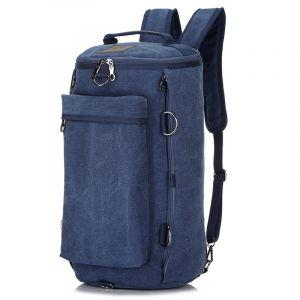 Sac vintage grande capacité - Bleu - Sac à dos Sac