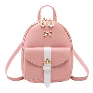 Mini sac à dos en cuir bijoux dorés - Sac à main Sac à dos scolaire