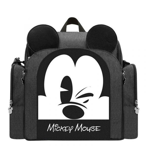 Sac À Couches Mickey Pour Bébé - Gris - Couche Sac À Langer