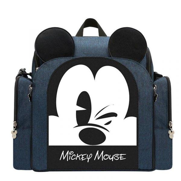Sac À Couches Mickey Pour Bébé - Bleu - Couche Sac À Langer