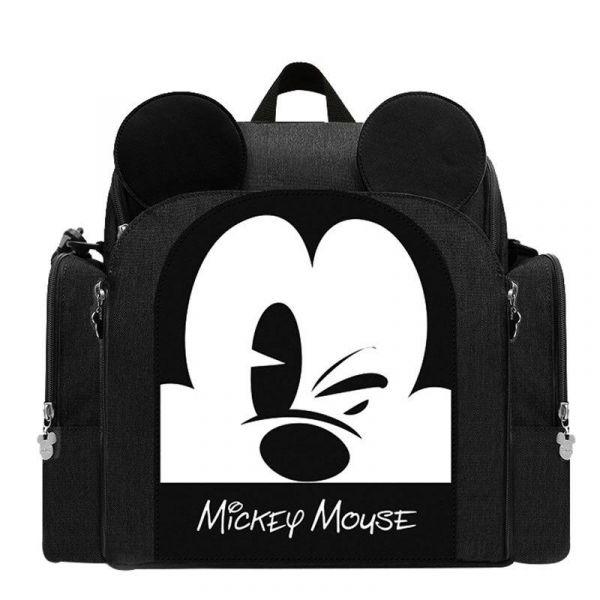 Sac À Couches Mickey Pour Bébé - Noir - Couche Sac À Langer