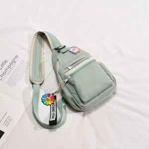 Petit sac à dos femme en nylon - Vert - La conception des produits Accessoire de mode