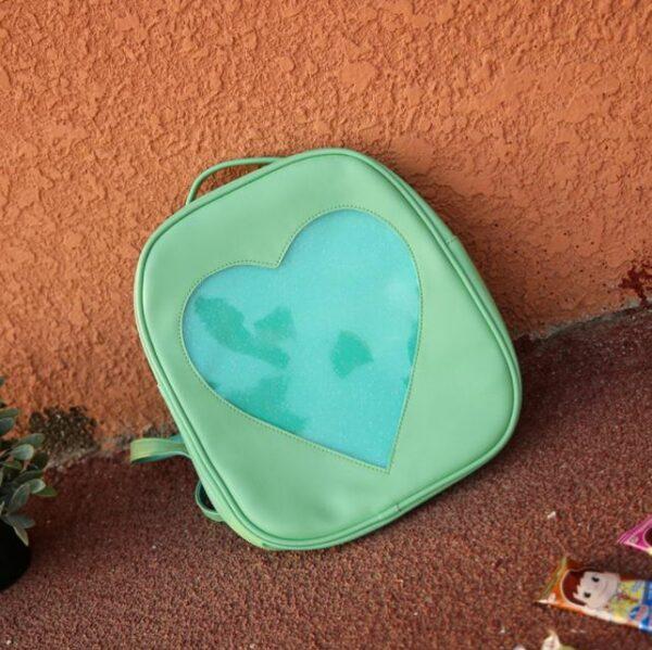 Sac À Dos Enfant Motif Cœur Transparent - Vert - Sac À Dos Ita-Sac