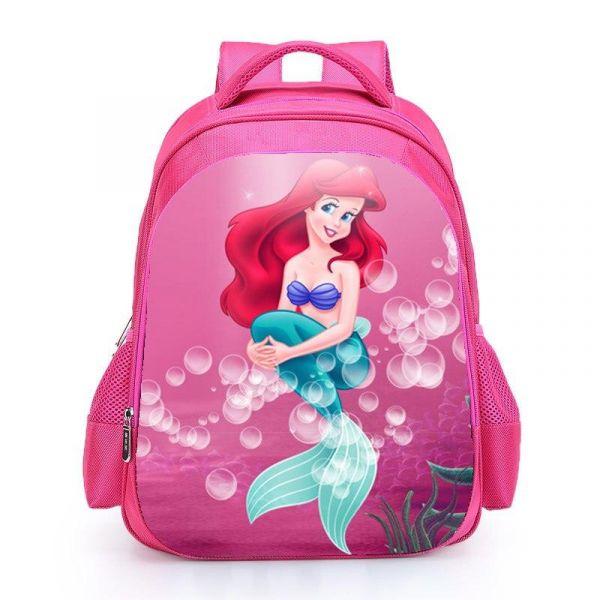 Sac À Dos La Petite Sirène Pour Fille - Rose Foncé - La Petite Sirène Ariel