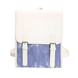 Grand sac à dos cuir PU pour femme - Bleu - Sac à main Produit